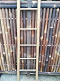 Bambusleiter cappucion Leiter Handtuchhalter Bambus 180 cm x 48 / 34 cm