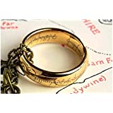 Lord Of the Ring/Hobbit: The one ring from the hobbit replica gold plated