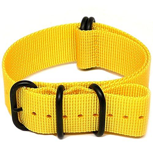 daluca-nato-cinturino-in-nylon-balistico-colore-giallo-rivestimento-in-nitruro-di-titanio-realizzato
