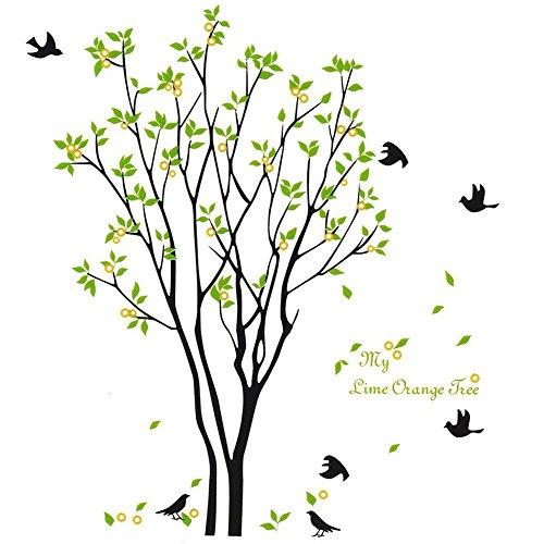 Wandtattoo Niedlich Vögel Wandaufkleber Abnehmbare Wandsticker für Kinderzimmer Schlafzimmer Wohnzimmer (Dschungel-safari-baby-dusche Dekorationen)