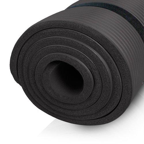 diMio Tappetino da yoga/pilates 185x 60cm, in 2spessori e 6colori, senza ftalati e testato SGS, nero