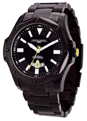 Jorg Gray - JG9100-23 - Montre Homme - Quartz Analogique - Bracelet Acier Inoxydable Noir