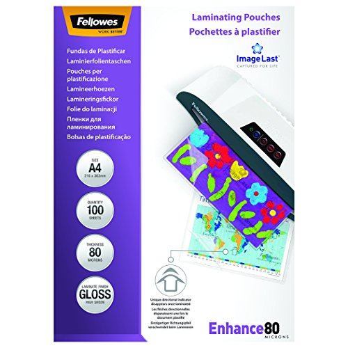 Fellowes (A4) 80 Micron Laminating Pouch (100 Pack) lowest price