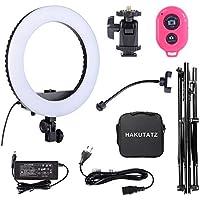 Hakutatz LED Ring Light Kit Anello LED Luci per Fotografia Video Selfie Light 14'' 33cm 3200-5600K 35W Bi-Color