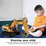 Vehículo de juguete de construcción huina 1550 1/14 2.4G 15CH RC aleación de camiones excavadora