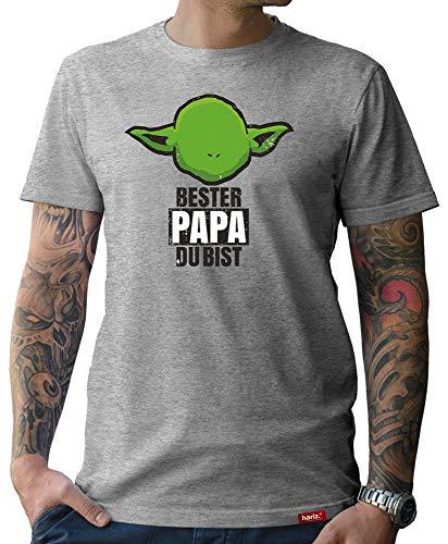 HARIZ  Herren T-Shirt Papa Collection 36 Designs Wählbar Grau Urkunde Papa20 Bester Papa Du Bist L