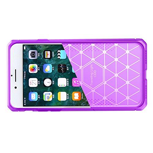 AddGuan iPhone 6/6S Caso,TPU Protezione di fibra di carbonio ultrasottile in silicone antiurto Custodia adatto per iPhone 6/6S Insiemi di smart phone caso, Bianco Pourpre