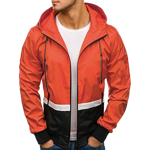 Fannyfuny Kapuzenjacke Outwear Herren Mantel Zipper Kapuzenpullover Männer Jacke Hoodie Tops mit Zipper Slim Tracktop Sweat Sportjacke Sweatjacke Sweatshirt Jacke Bomberjacke Windbreaker Winter Warme -
