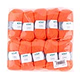 Gründl Lisa Premium Wolle, Polyacryl, Neonorange, 32 x 27 x 6 cm