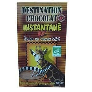 Destination Chocolat en poudre Bio Cacao 32 % Instantané Céréales 800 g