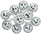Talking Tables DISCO Glitterati Décoration de Table Lumineuse Boules Disco LED Scintillantes, Argenté