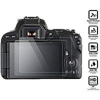 BlueBeach® Paquet de 2 Protection d'écran Protecteur en verre trempé pour Canon EOS 200D DSLR (0.3mm 2.5D 9H Dureté)