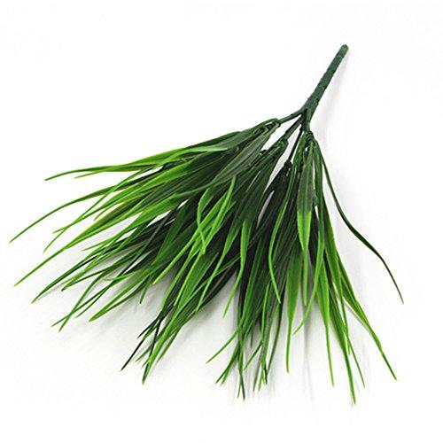 oobest künstlichen grün Gras Pflanzen Haushalt Innen Außen Garten Büro Hochzeit Deko, plastik, 01