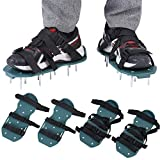 1 Pair of Lawn Aerator Sandals Heavy Duty Grass Spiked Shoes with Plastic