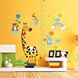 Wandaufkleber home cartoon kinder wandaufkleber selbstklebende schlafzimmer wohnzimmer baby maß höhe aufkleber tapete kindergarten tier aufkleber, 60 * 90 CM