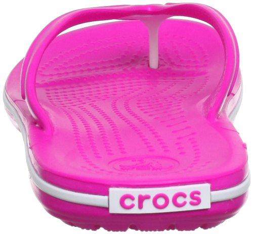 Crocs Band Flp, Tongs - Mixte adulte Rose (Neon Magenta/White)