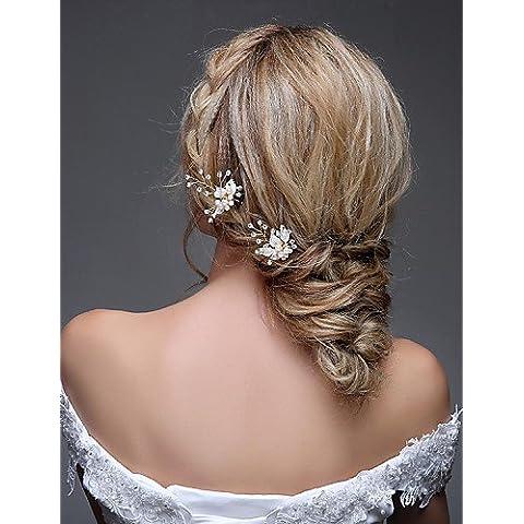 GAO&FS Copricapo Donne Fermacapelli Matrimonio / Occasioni speciali Strass /