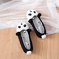 YMYGYR Womens Garden Clogs,Panda home soft bottom floor mute slippers women, winter bedroom cotton slide shoes girls bedroom