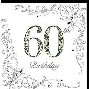 edle gl ckwunschkarte zum 60 geburtstag von koko designs mit pr gung folie und kristallen. Black Bedroom Furniture Sets. Home Design Ideas