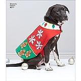 Simplicity Muster 8277Ein Vlies Hund Mäntel und Hüte in Drei Größen Schnittmuster, weiß, Klein–Mittel–Groß
