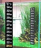 takestop® Set 2Stück Präzisions-Thermometer Aufkleber Streifen-Glas Aquarium Marino Dolce Wasser Terrarium