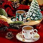 Kütahya Porselen RU04KT47010124 Kahve Takımı, Porselen, 4 Parça