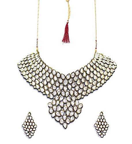 Zaveri Pearls Sensuous Grand Kundan Necklace Set-ZPFK3712