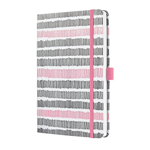 Sigel J9311 Weekly Diary Jolie 2019, Format Approx. A5, with Blue Scribble Motif