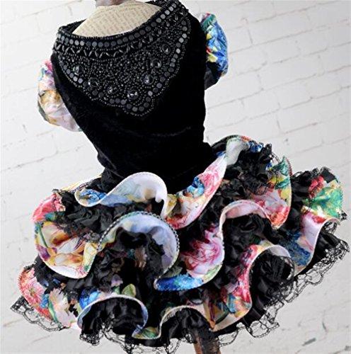 Katze Kleidung Tierbedarf Katze Hund Hochzeitskleid Große Blume Agaric Sress Schwarz XL Durch Znyo