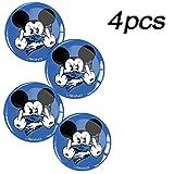 Skino 4 x Aufkleber 3D Gel Silikon Autoaufkleber Stickers Micky Maus Mittelfinger Mickey Mouse Blau Felgenaufkleber Für Radkappen Nabenkappen Radnabendeckel Rad-Aufkleber Nabendeckel Auto Tuning Andere Größe A 74 (68mm)
