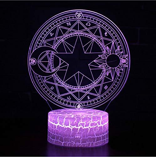 er 3D Illusion Nachtlicht, Touch Button Tisch Schreibtischlampe Mit 7 Farben Licht Für Weihnachten Halloween Geburtstagsgeschenk Gift Magic Array Thema) ()