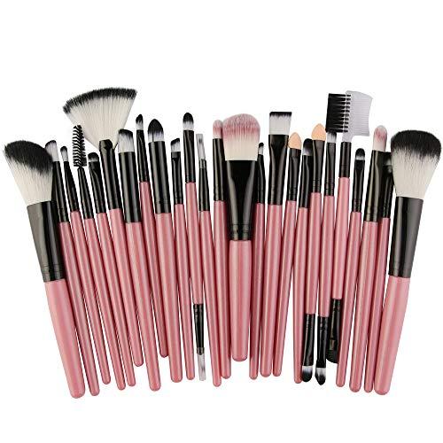 DaySing Brosse SynthéTique Fusion De Fond De Teint Concealer Eye Visage Liquide Poudre CrèMe 25Pcs Maquillage CosméTique Pinceau Fard à Joues Fard à PaupièRes Kit Set Concealer Cosmetics Brush