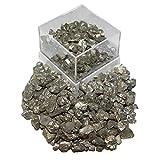 Pyrit kleine Kristalle auch Katzengold genannt in Box ideal Schatzsuche Sandkasten