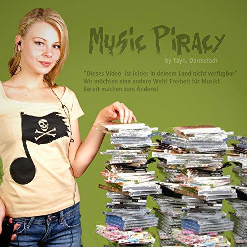 Music Piracy - Damen T-Shirt von Kater Likoli Sand