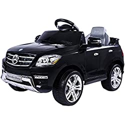 moleo Voiture Mercedes-Benz ML à 2 Moteurs pour Enfants - MP3 - avec télécommande