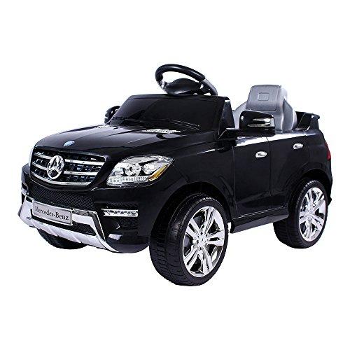 elektrisches kinderfahrzeug Mercedes-Benz ML Kinder Auto Elektroauto Kinderauto Elektrofahrzeug Kinderfahrzeug mit 2 Motoren MP3 Fernbedienung. Farbe: Schwarz