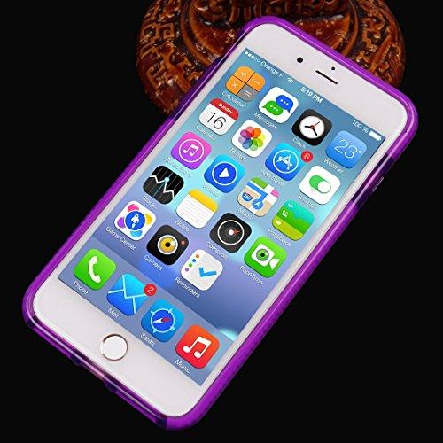 YAN Für iPhone 7 Plus Plaid Texture Transparente TPU Schutzhülle ( Color : Purple ) Purple