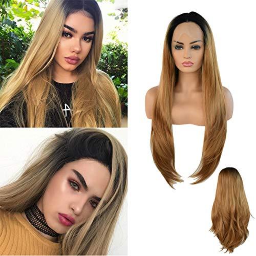 Solike Perruque Lace Devant Wigs Cheveux Vierges brésilien Afro Wig de cheveux humains Femmes Perruques Longues à Cheveux Ondulés Perruques