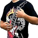 XL elettrica Rock Guitar T-shirt giocabile chitarra! Gadget elettronico della chitarra T-shirt