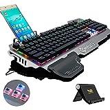 Normia Rita 104 klicken Mechanische Spiel Tastatur, Hintergrundbeleuchtung RGB LED Gaming-Tastatur,...
