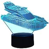 InnoWill Yacht Dekoration Geschenk LED Lampe 7Colors USB und Batteriebetriebene
