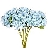 Justoyou 4flores hortensias con tallo individual, artificial, flores de seda para hogar, oficina, decoración y regalo para el día de la Madre.Característica:Para alegrar cualquier día con este colorido arreglo de hortensias realistas.Las flo...