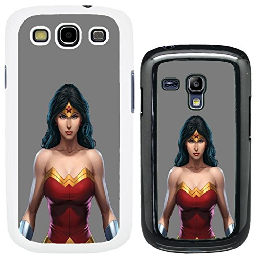 DC Marvel comic book Schutzhülle für Samsung No.7 Samsung Galaxy S3 i9300 Wonder Woman - G806 - Black