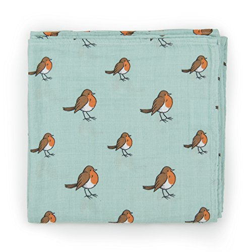 organic-cotton-muslin-swaddle-blanket-x-large-120x120cm-woodland-friends-collection-little-robin
