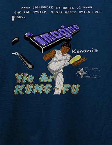 Yie Are Kung Fu T-Shirt Navy Blau