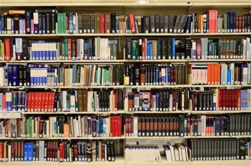 Cassisy 3x2m Vinyl Bücherregal Fotohintergrund Bücherregale Hintergrund Bibliothek Hölzernes Bücherregal Buchgeschäft Fotoleinwand Hintergrund für Fotoshoot Fotostudio Requisiten Party Photo Booth - Bibliothek Korb