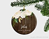 cwb2jcwb2jcwb2j Mother of The Groom Wedding Day Gift, Mother of The Groom Floral Christmas Ornament, Thank You for Raising The Man of My Dreams Ornament, 3-inch(8 cm)
