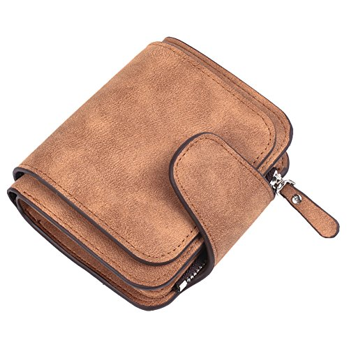 - Brown-leder-schlüsselring (YSoutstripdu Münzspüree, die Original-Leder-Frauen Card Mini Wallet Bag mit Schlüsselring für Mama-Red/Black/Brown/Dark Yellow)