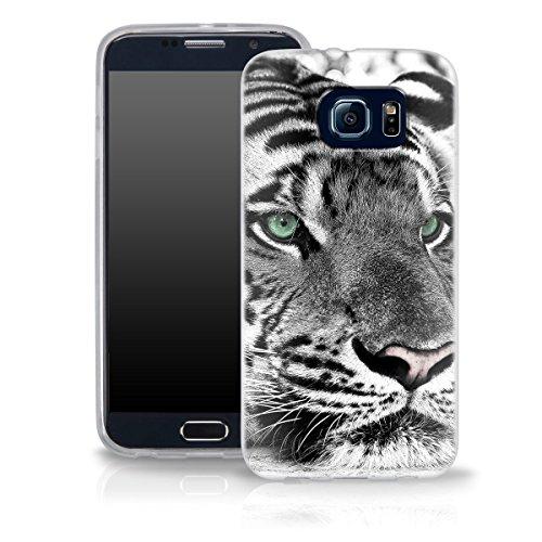 OOH!COLOR 025627_mte014 Holz mit Muster weiche Silikon TPU Bumper-Hülle für Samsung Galaxy J1 klar ACA014
