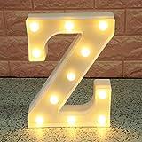Broadroot 3D Englisch Buchstaben Form LED Nachtlicht Wandbehang Festzelt Zeichen Alphabet Licht Schlafzimmer Hochzeit Party Leuchte Deko Lampe (Z)